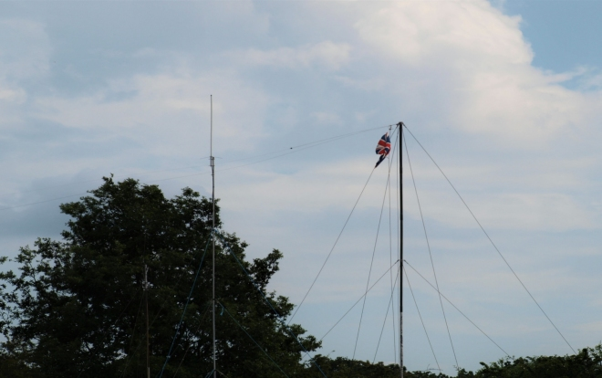 Photo A - antenna in silhouette style